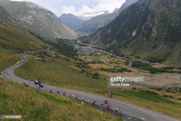 Col De L'iseran / Peloton / Landscape / Mountains / Snow / during the 106th Tour de France 2019, Stage 19 a 126,5km stage from...