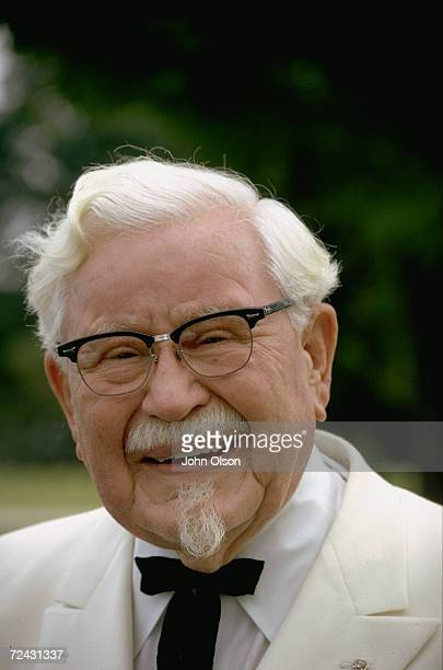 Col Harland Sanders founder of Kentucky Fried Chicken