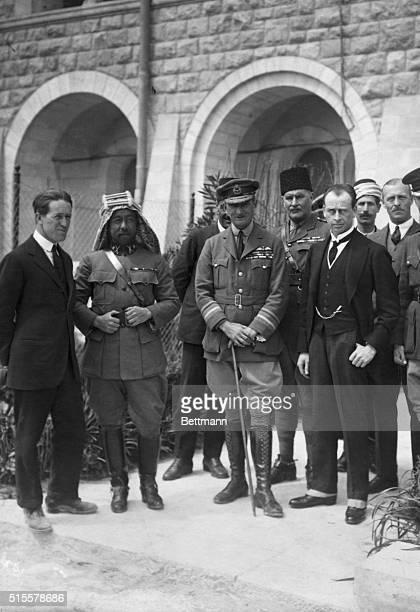 Col TE Lawrence Emir Abdullah Air Marshal Salmond and Sir Wyndham Deedes Undated photograph