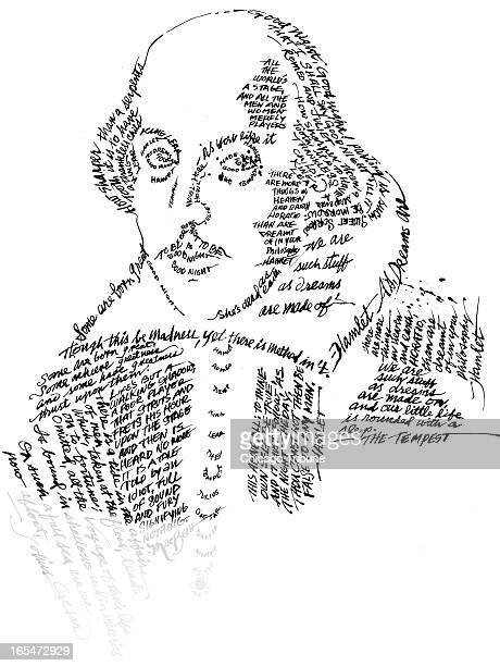 4 col x 1025 in / 196x260 mm / 667x886 pixels Dennis Odom color portrait of William Shakespeare composed in his own words