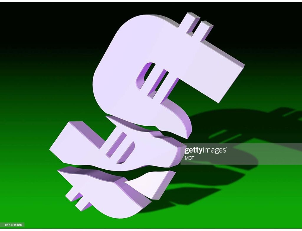 2 col x 3.25 in / 108x83 mm / 368x281 pixels Kurt Strazdins color illustration of a broken dollar sign.