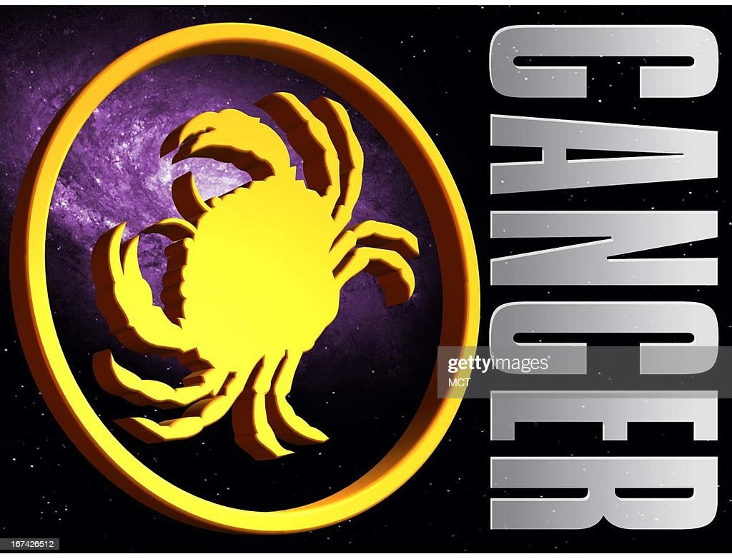 2 col x 3.25 in / 108x83 mm / 368x281 pixels Kurt Strazdins color illustration of the zodiac sign for Cancer, the crab.
