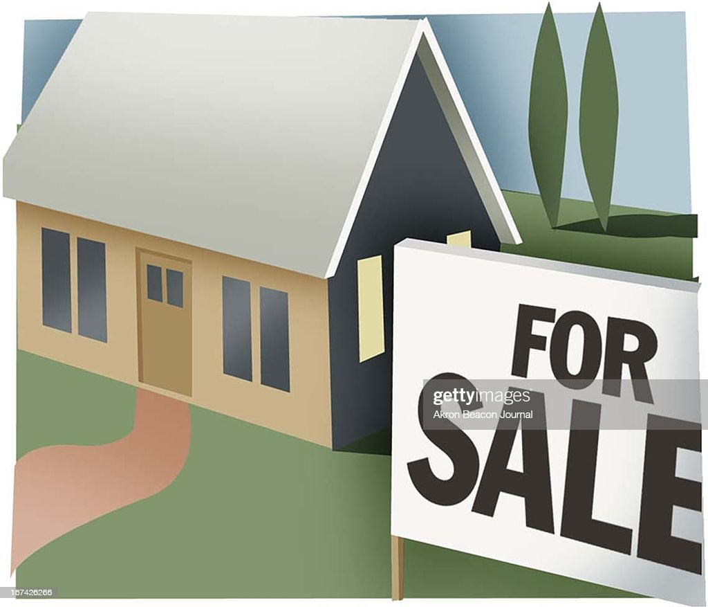 2 col x 3.25 in / 96x83 mm / 327x281 pixels Kathy Hagedorn color illustration of a house with a for sale sign in front.