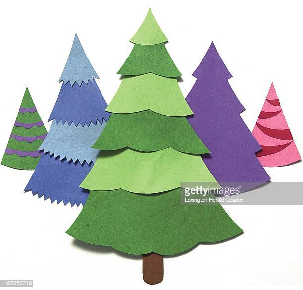 3 col x 55 in / 146x140 mm / 497x475 pixels Pablo Alcala color illustration of Christmas trees