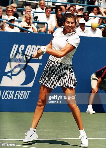 COL1973Tennisspielerin YU/USAmit typischem Gesichtsausdruckwährend der USOpen 00001995