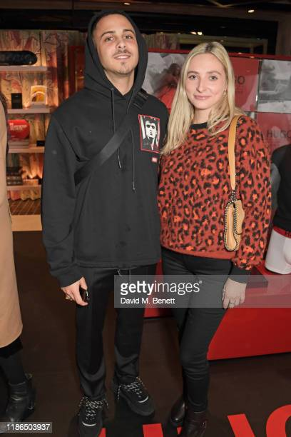 Col3trane and Dylan Weller attend the Hugo X Liam Payne Bodywear Campaign party at Flannels on December 4 2019 in London England