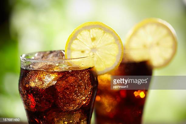 cola and lemon - soda stock pictures, royalty-free photos & images