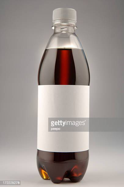 cola bottle with blank label - soda bottle stock photos and pictures