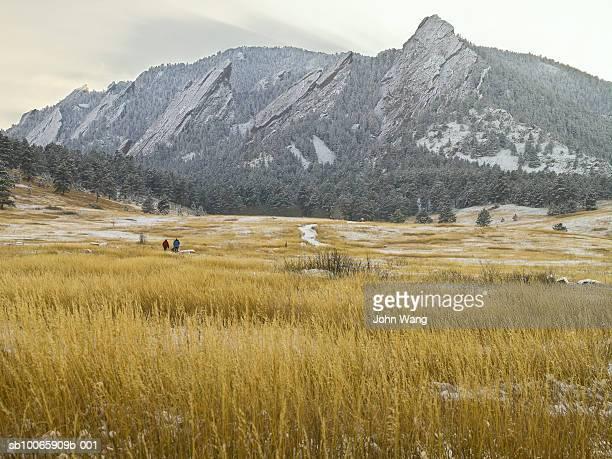 USA, Colarado, Boulder, Chautauqua Park, Flatirons mountains