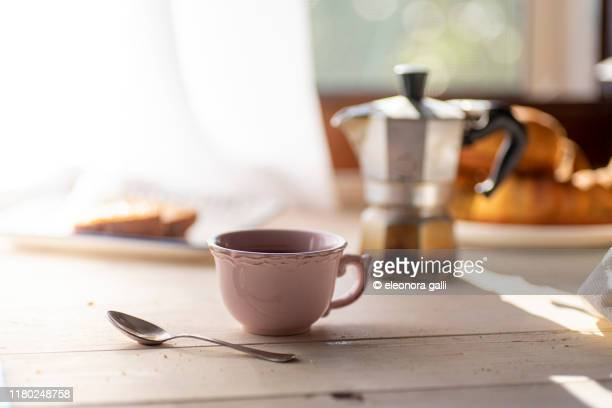 colazione a casa - mocha stock pictures, royalty-free photos & images