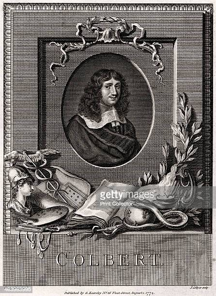 'Colbert' 1774 Portrait of JeanBaptiste Colbert French statesman Louis XIV's Chief Minister He was responsible for reforming the chaotic financial...