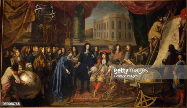 Colbert Presenting the Members of the Royal Academy of Sciences to Louis XIV in 1667 c 1680 Found in the Collection of Musée de l'Histoire de France...