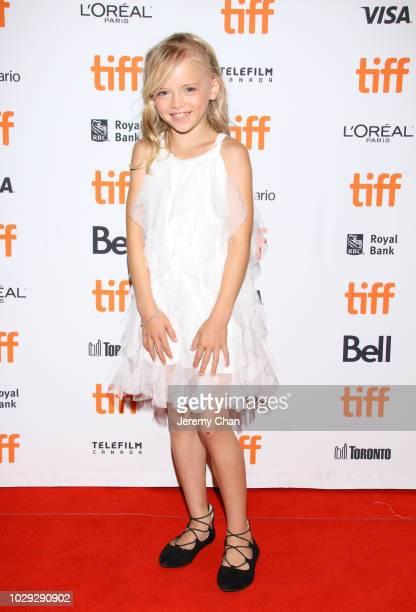 Colbi Gannett attends the Skin premiere during 2018 Toronto International Film Festival at Winter Garden Theatre on September 8 2018 in Toronto Canada
