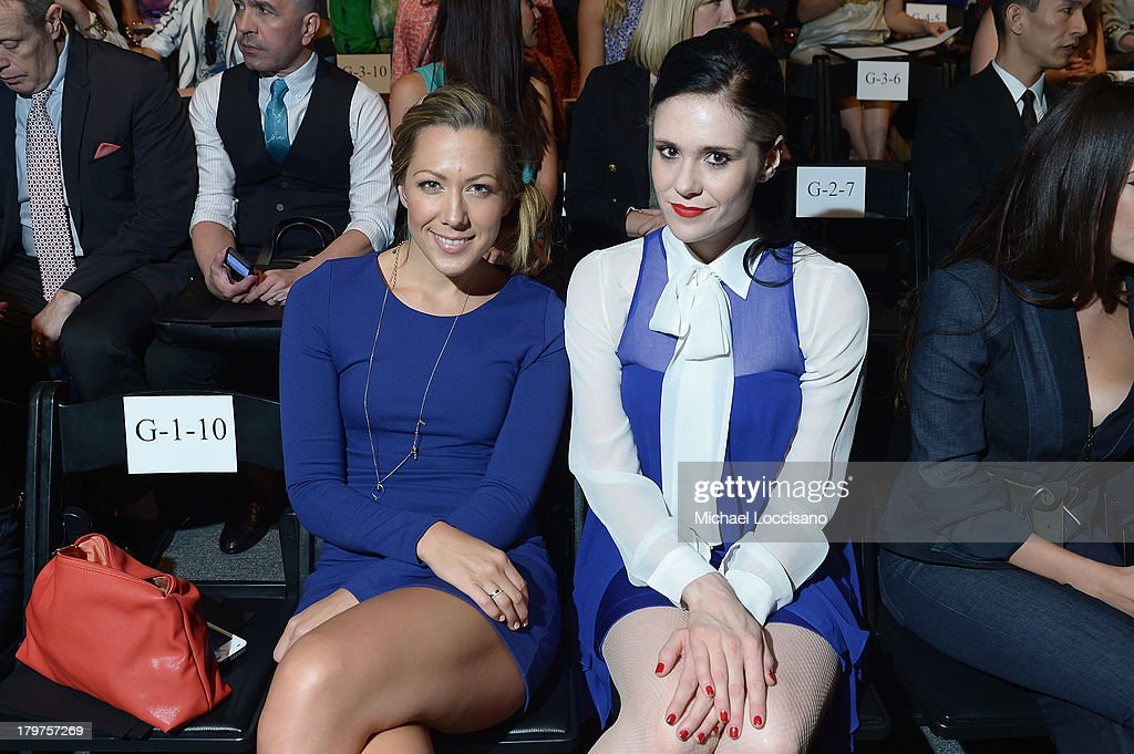 Colbie Caillat and Kate Nash attend the Nicole Miller Spring 2014 fashion show during Mercedes-Benz Fashion Week at The Studio at Lincoln Center on September 6, 2013 in New York City.