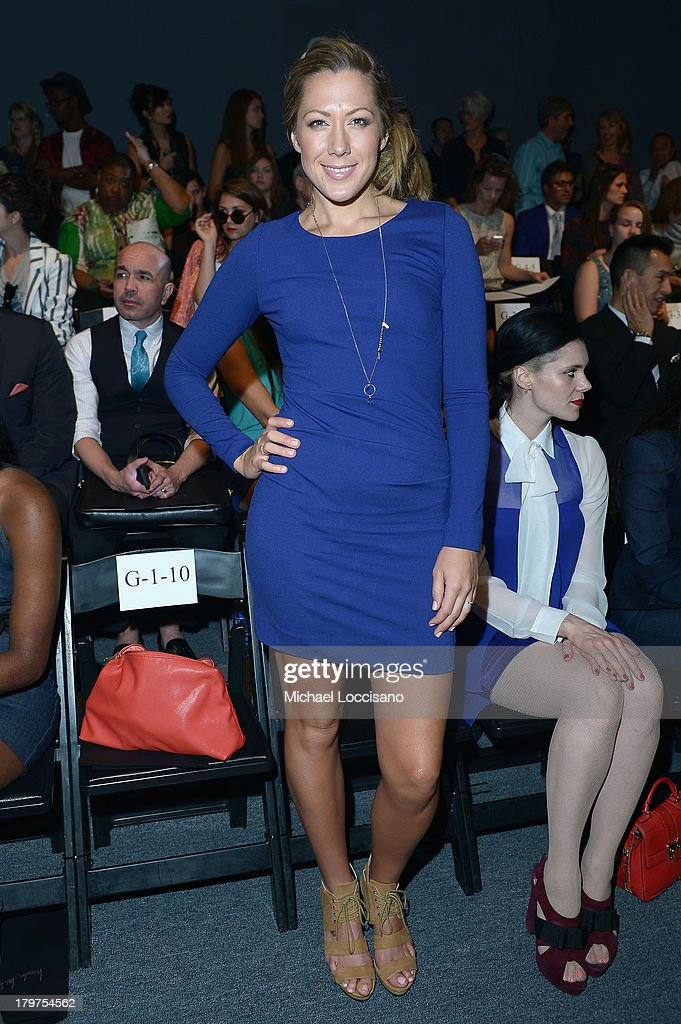 Colbie Caillat attends the Nicole Miller Spring 2014 fashion show during Mercedes-Benz Fashion Week at The Studio at Lincoln Center on September 6, 2013 in New York City.