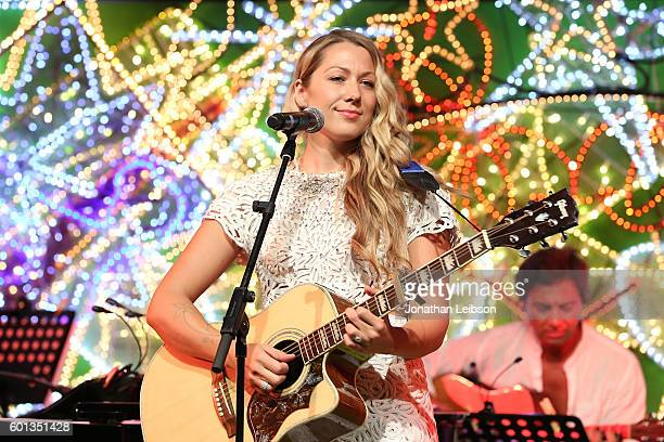 Colbie Caillat performs at a dinner and reception at Andrea Bocelli's country home as part of Celebrity Fight Night Italy benefiting The Andrea...