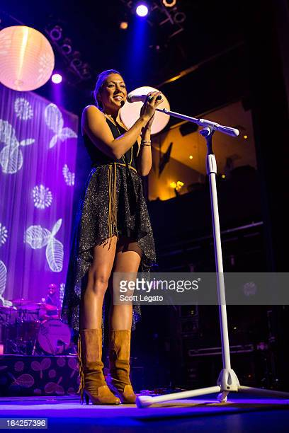 Colbie Caillat performs her tour opener in concert at The Soundboard Motor City Casino on March 21 2013 in Detroit Michigan