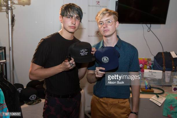 Colby Brock and Sam Golbach and Colby Brock attend Backstage Creations Celebrity Retreat At Teen Choice 2019 on August 11 2019 in Hermosa Beach...