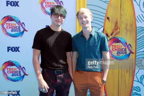 Colby Brock and Samuel Golbach of Sam and Colby attend FOX's Teen Choice Awards 2019 on August 11 2019 in Hermosa Beach California