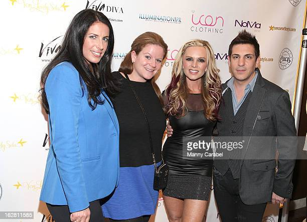 Colby Brock Robyn Santiago Tamra Barney and Julius Michael attend Tamra Barney's Bachelorette Party at NoMa Social 1 Radisson Plaza on February 27...