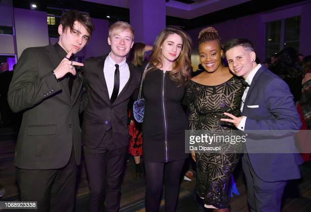 Colby Brock Sam Golbach Aija Mayrock Ebony and Denise attend the Ad Council's 65th Annual Public Service Award Dinner at New York Hilton Midtown on...