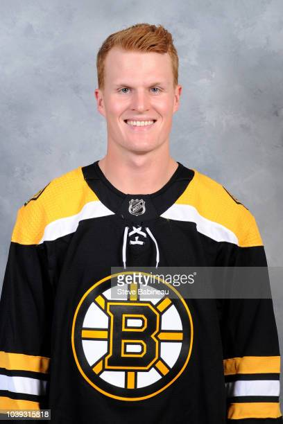 Colby Cave of the Boston Bruins poses for his official head shot for the 2018-2019 season on September 11, 2018 at the Warrior Ice Rink in Watertown,...