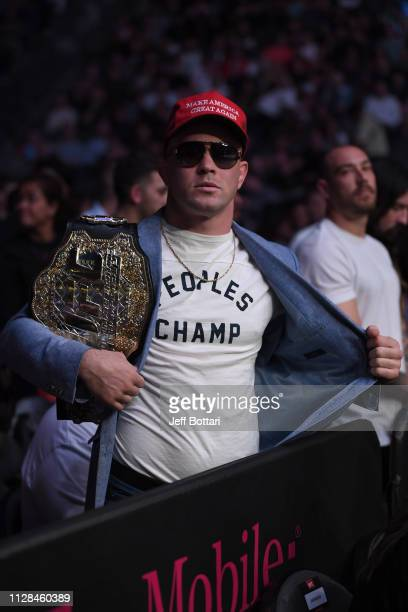 Colby Covington attends the UFC 235 event at TMobile Arena on March 2 2019 in Las Vegas Nevada