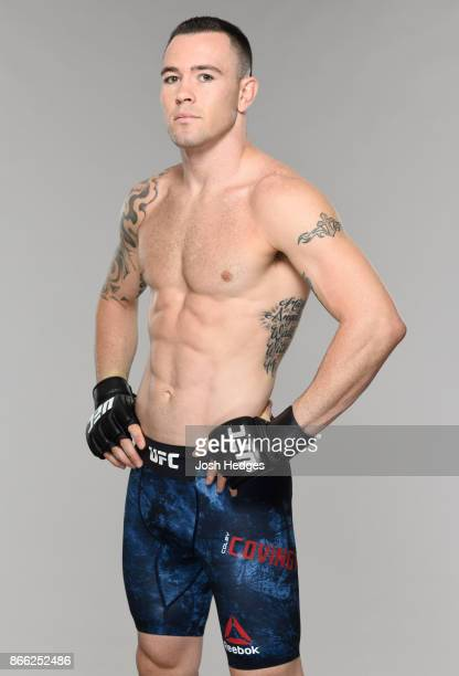 Colby Covington poses for a portrait during a UFC photo session on October 25 2017 in Sao Paulo Brazil