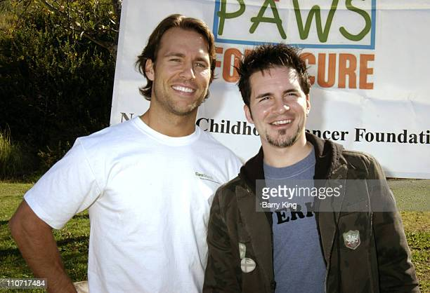 Colby Donaldson and Hal Sparks during 4th Annual Dogwalk to Fund Curesearch National Childhood Cancer Foundation at Temescal Canyon Park in Pacific...