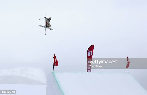 Colby Stevenson competes in the Men's Ski Slopestyle qualifier during Day 2 of the Dew Tour on December 14 2017 in Breckenridge Colorado
