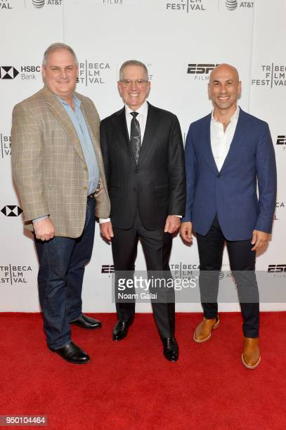 Colby Vokey Neal Puckett and Haytham Faraj attend a screening of House Two during the 2018 Tribeca Film Festival at Cinepolis Chelsea on April 22...
