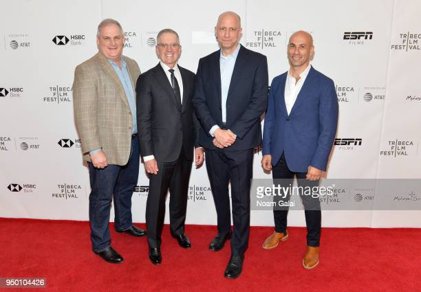 Colby Vokey Neal Puckett Michael Epstein and Haytham Faraj attend a screening of House Two during the 2018 Tribeca Film Festival at Cinepolis Chelsea...