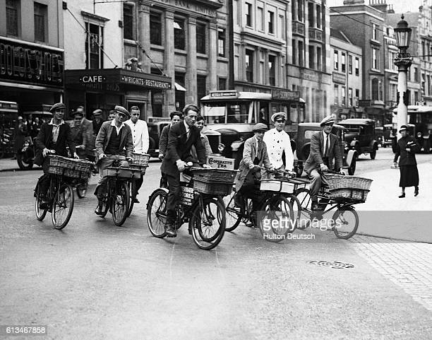 Colchester errand boys are seen practising for their Derby race in the town's forthcoming Carnival