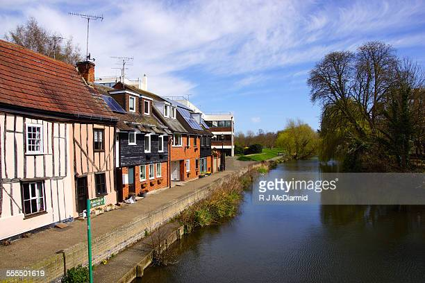 colchester houses belong a waterway - colchester stock pictures, royalty-free photos & images