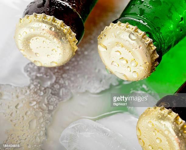 Froid bouteilles et de glace