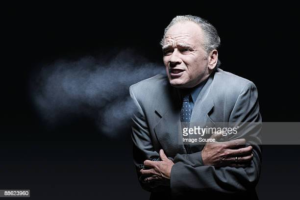 Cold businessman