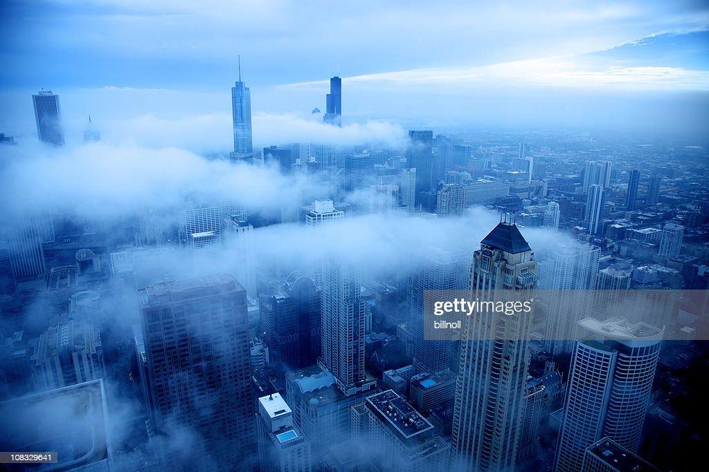 寒い日にシカゴ : ストックフォト