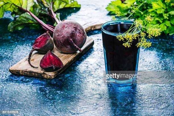 Cold drink of fresh beet