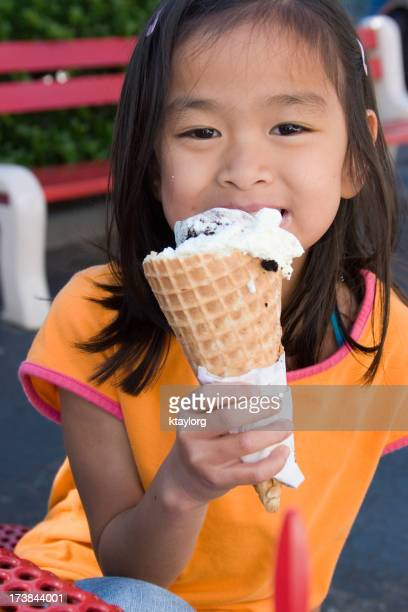 Cold ice cream on a hot day