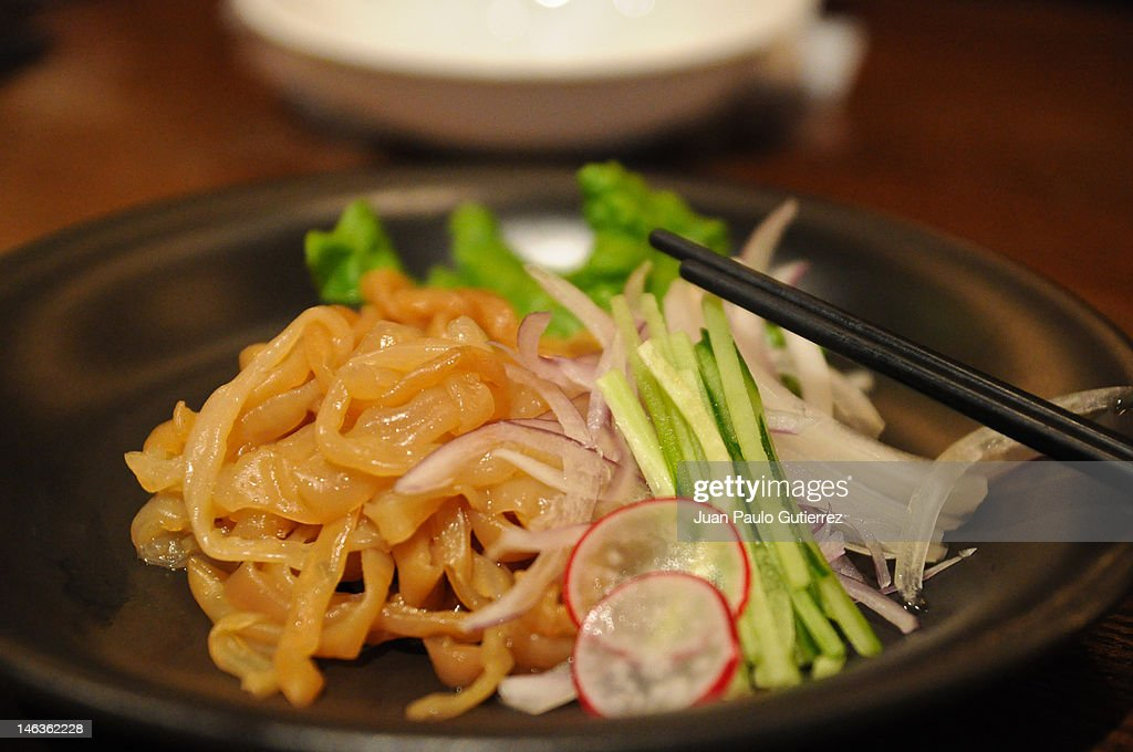 Cold jellyfish salad : Stock Photo