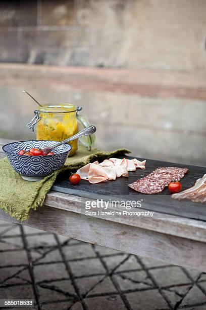cold meat platter - sara stone fotografías e imágenes de stock