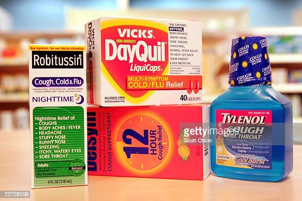Cold medicines containing dextromethorphan are offered for sale at a retail store December 05 2006 in Chicago Illinois According to reports between...