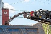 road milling machine removes old asphalt