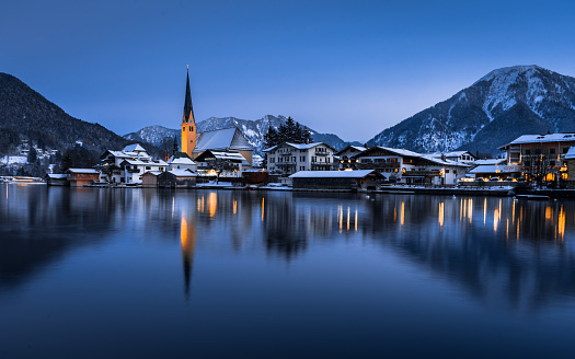 Cold Night in Rottach Egern at the Tegernseer - gettyimageskorea