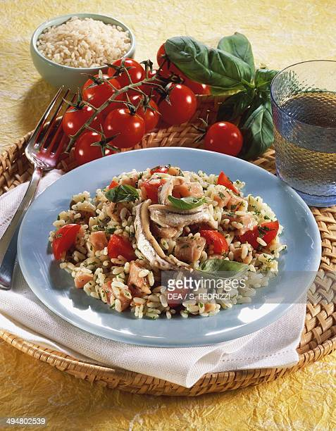 Cold rice with anchovies and tuna