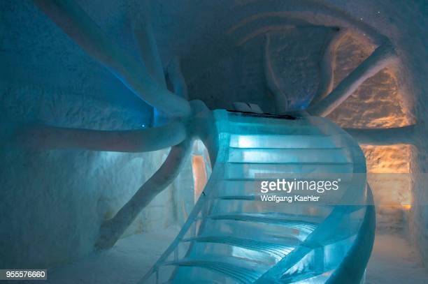 Cold Rooms in the ICEHOTEL 365 which was launched in 2016 and is a permanent structure offering year round the stay in the Icehotel in Jukkasjarvi...