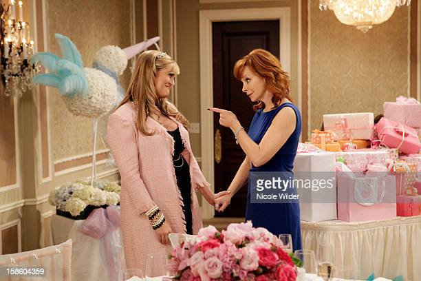 """Cold Shower"""" - Reba volunteers to host Kim's baby shower, and Kim's stepson Sage films her every move to document the celebration for her unborn..."""