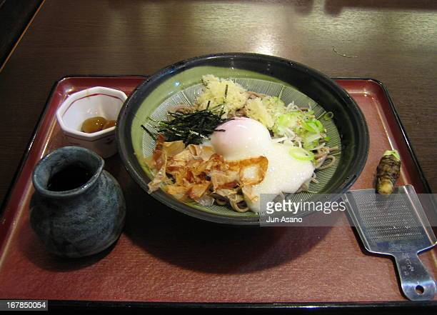Cold Soba with Yam & Egg