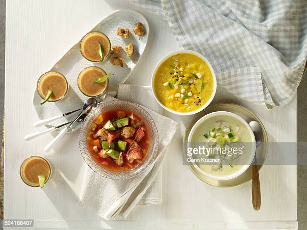 Cold summer soups