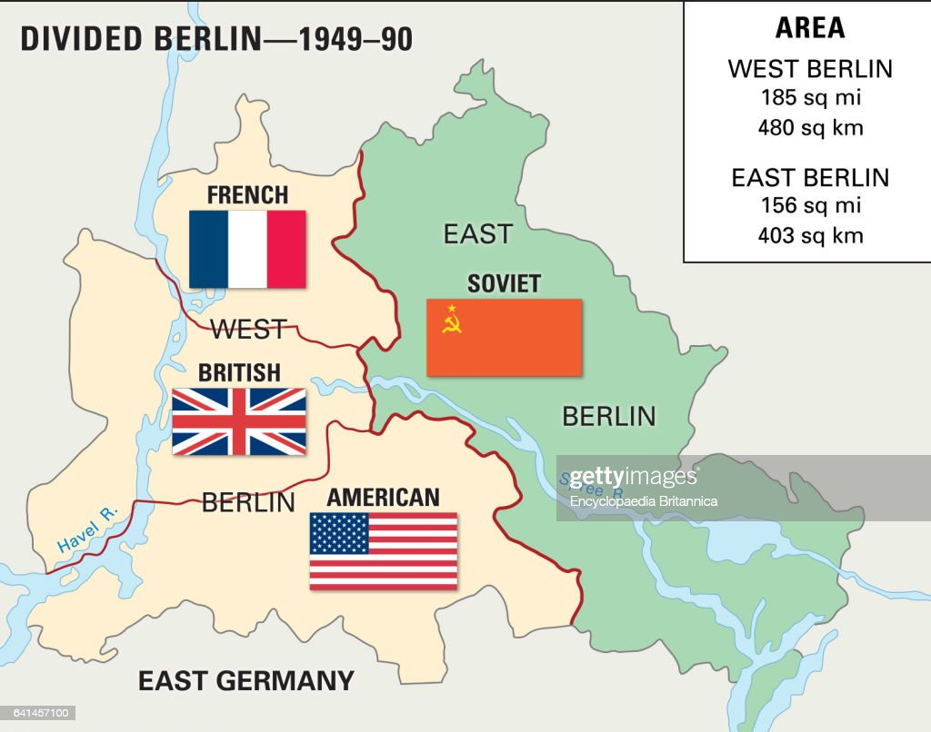 Map Of Germany Cold War.Cold War Berlin 1948 1990 Historical Map News Photo Getty Images
